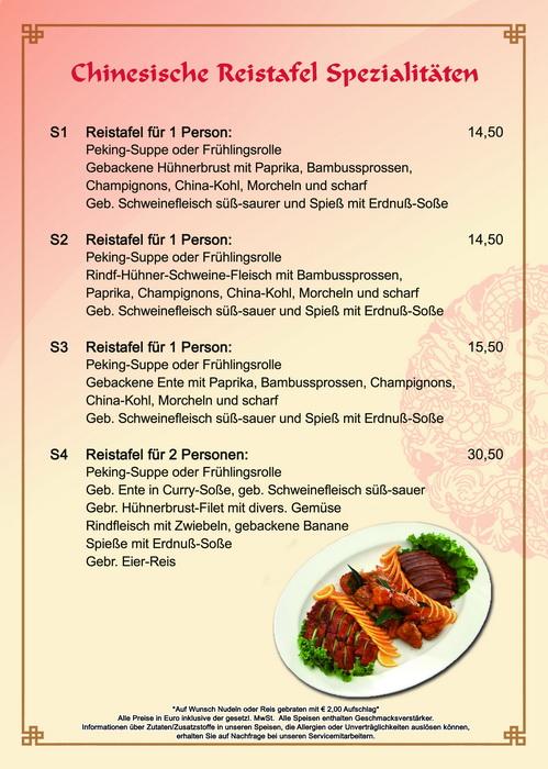 Speisekarte Peking Garden China Restaurant